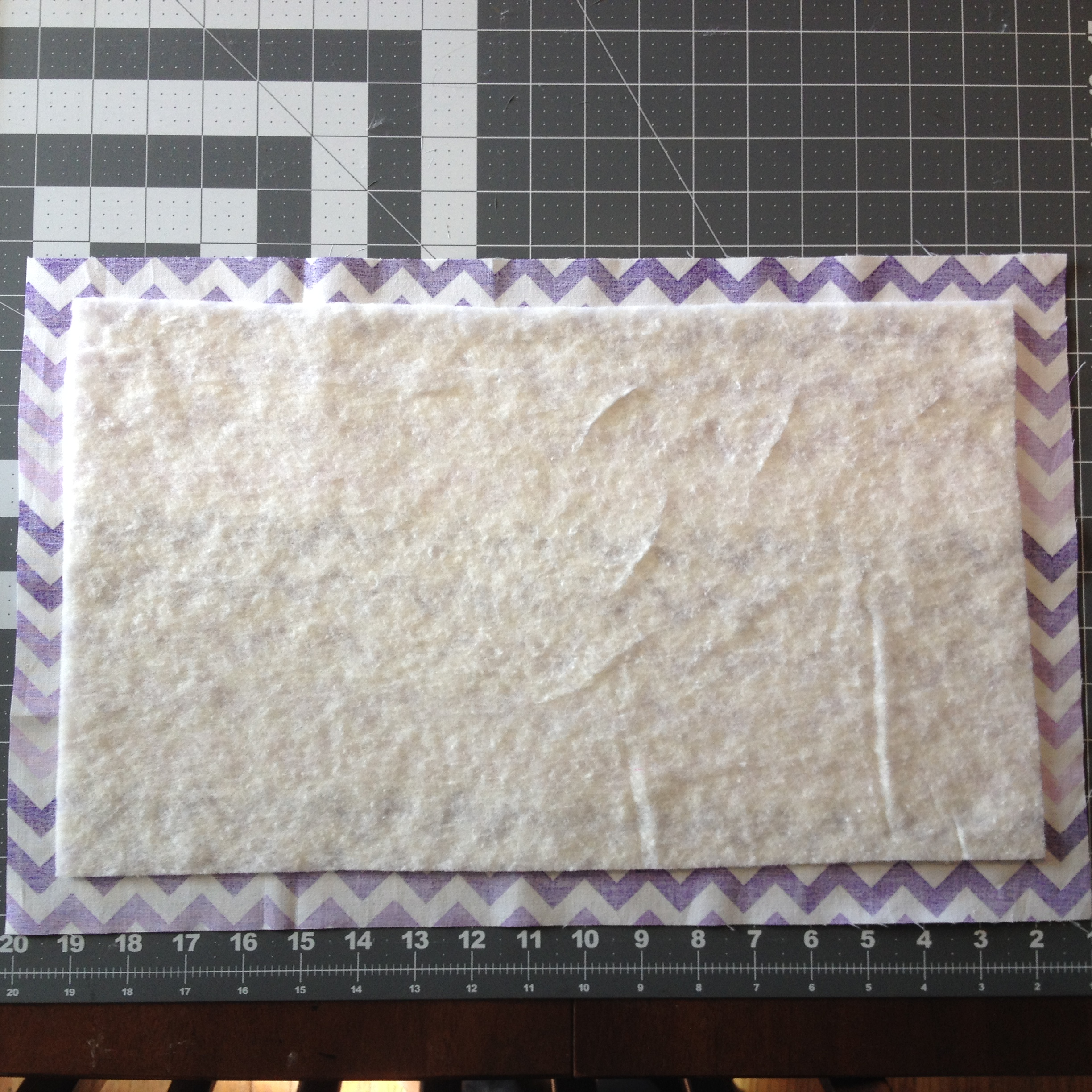 how to make placemats with batting