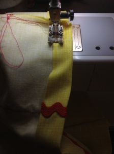 stitching on the casing.